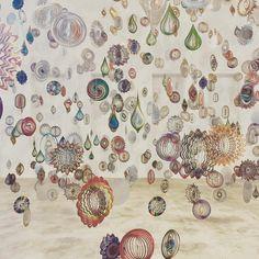 Suspended metal objects, by Nick Cave, MoCA, Massachusetts Photo via Hecker Guthrie, Australia - Instagram.