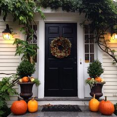 Welcoming front entry styled for fall - Jessika Goranson