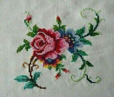 This Pin was discovered by Pın Cross Stitch Books, Cross Stitch Cards, Cross Stitch Borders, Cross Stitch Rose, Cross Stitch Flowers, Cross Stitch Designs, Cross Stitching, Cross Stitch Patterns, Hardanger Embroidery