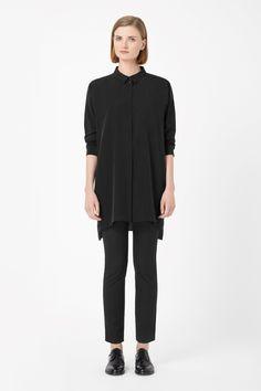 COS | Long silk shirt