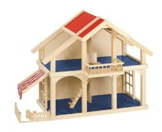 The sturdy modern wooden dollhouse x x is big enough for friends to play with together. Roof panels remove for easy access to the to… … Wooden Dollhouse, Wooden Dolls, Dollhouse Dolls, Eco Friendly Stores, Dollhouse Furniture Sets, Roof Panels, 2nd Floor, Toddler Bed, Shops