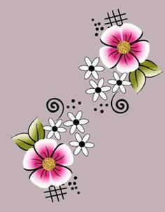 Flowering Shade Plants, Easter Egg Pattern, Flower Sketches, One Stroke Painting, Hand Embroidery Stitches, Nail Decals, Rangoli Designs, Flower Nails, Flower Images