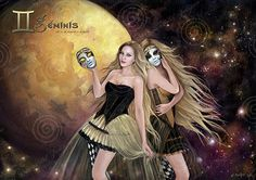 Gemini Poster Collection Ladies of the Zodiac by ArteMineralOnline, €10.00