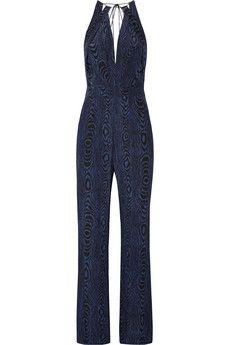Diane von Furstenberg Ireland printed silk jumpsuit | THE OUTNET