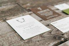 Oh So Beautiful Paper: Jaimie + Miles's Rustic Jackson Hole Wedding Invitations