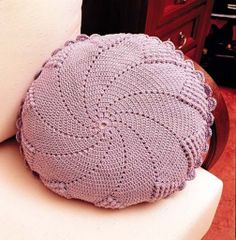 Crochet Knitting Handicraft: pillow