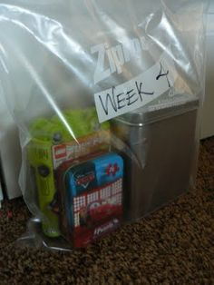 Church Busy Bag, week 4 (From an LDS site...so, swap LDS cards with Bible story or Christian themes)