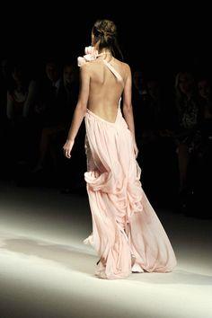 nude, backless, dress, fashion