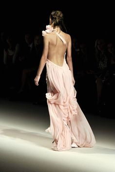 nude, backless, dress, fashion