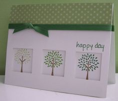 Stamping with Loll: Trendy Green Trees