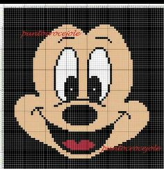 Mickey Mouse x-stitch Cross Stitch Boards, Cross Stitch Kits, Cross Stitch Designs, Cross Stitch Patterns, Cross Stitching, Cross Stitch Embroidery, Mickey E Minnie Mouse, Disney Quilt, Pixel Art Templates