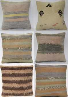 pastel kilim pillows