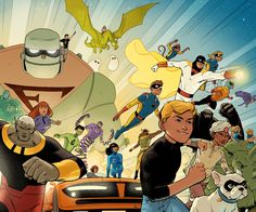 Part of DC Comics' slate of new Hanna Barbera comics, Future Quest sees Jonny Quest, Harvey Birdman, Space Ghost and more team up in this updated take on classic characters. Written by Jeff Parker (Hulk, Thunderbolts, Agents of Atlas).