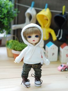 Items similar to Lati Vintage Hooded T - White on Etsy Child Doll, Boy Doll, Cute Baby Dolls, Cute Babies, Pretty Dolls, Beautiful Dolls, Plush Dolls, Blythe Dolls, Cute Cartoon Boy