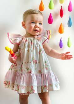 Butterfly Dress Sewing Pattern and Tutorial. Baby Girl's Dress Pattern.Children's PDF Pattern.