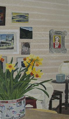 CRESSIDA CAMPBELL  Interior with Daffodils (2010)