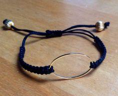 bracelet macrame noir Plus