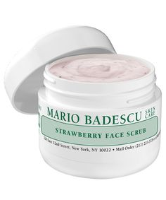 10 Facial Scrubs to Give Your Skin the Best Deep Clean Ever - Mario Badescu Strawberry Scrub from InStyle.com