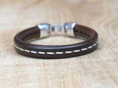 heren regaliz bruin leren armband voor mannen  image