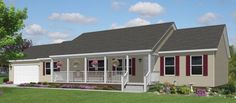 The Kannapolis Modular home with garage design and porch for only $96,972