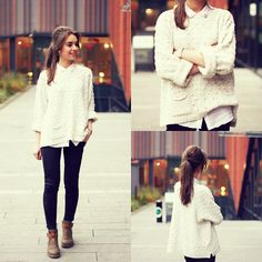 i find this an interesting look for the winters.Sweater weather - LOOKBOOK.nu
