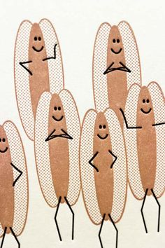 Many franks. Letterpress card by Hawkgerber on etsy.