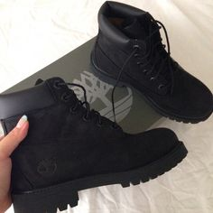 shoes,timberlands,black timberlands,black boots Source by boots Timberlands Black, Black Timberland Outfits, Timberland Fashion, Women's Timberland Boots, Cute Shoes, Me Too Shoes, Trendy Shoes, Casual Shoes, Dream Shoes