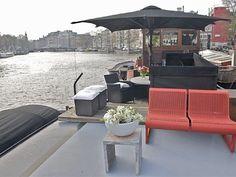 Exklusives Hausboot mit wunderbarer Aussicht im Zentrum von Amsterdam. Platz für bis zu 2 Personen, 350€ pro Nacht. Objekt-Nr. 826719