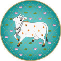 Cow Painting, Krishna Painting, Fabric Painting, Kalamkari Painting, Madhubani Painting, Pichwai Paintings, Indian Art Paintings, Cow Sketch, Cow Illustration