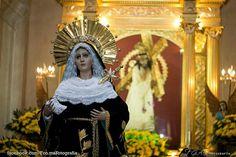 Virgen de dolores del templo de la Merced en antigua Guatemala
