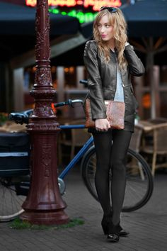 awesome leather lady street style photo form eatsleepwear fashion blog