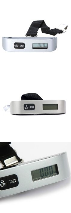 [Visit to Buy] 50kg / 10g Digital scale Electronic Portable Luggage Suitcase Travel Bag Weight Hanging Scales Balance Weight Drop Shipping #Advertisement