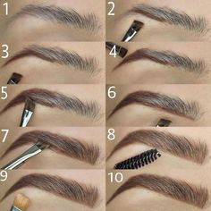 Make Up; Make Up Looks; Make Up Augen; Make Up Prom;Make Up Face; Makeup Steps Source by kayceenjax Eyebrow Makeup Tips, How To Do Makeup, Makeup Guide, Eye Makeup Tips, Makeup Hacks, Skin Makeup, Makeup Inspo, Eyeshadow Makeup, Makeup Contouring