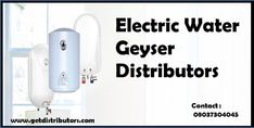 Getdistributors offers Consumer Electronics Distributors Business opportunities in Pan India. Companies looking for Distributorship of Electric Water Geyser distributors and many more. #ElectricWaterGeyserdistributorship #ElectricWaterGeyserdistributorship #ElectricWaterGeyserwholesaledealer #ElectricWaterGeyserdealers #distributor Water Geyser, Sales Agent, Business Opportunities, Kettle, Consumer Electronics, Opportunity, India, Electric, Tea Pot