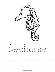 Learn about seahorses with free printables reading for Mister seahorse coloring page