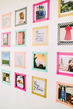 Bring some color to your walls with this incredible easy washi tape DIY. I love washi tape because it doesn't leave any sticky residue behind, so you don't need to worry about messing up your walls!