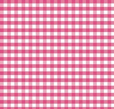 Pink and White Small Gingham Cotton Fabric by Riley Blake Designs - 1 Yard