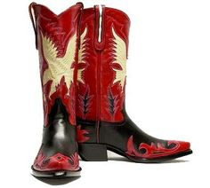 Men's Justice Aguila Boot (Black/Red)