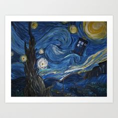 My attempt at the beautiful Doctor Who/Van Gogh mashup. A Starry Night in the TARDIS Tardis Wallpaper, Doctor Who Wallpaper, Wallpaper Gallery, Wallpaper Pictures, Starry Night Tattoo, Tardis Art, Doctor Who Tattoos, Doctor Who Funny, Classic Paintings