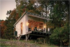 In spite of being a confirmed city dweller, I am quite taken by this small weekend structure, built by Broadhurst Architects on the southern slope of South Fork Mountain, near Upper Tract, West Vir...