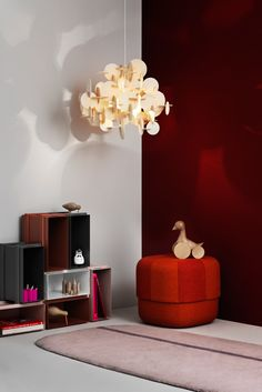 Bau - A DIY hanging light with attitude by Vibeke Fonnesberg Schmidt for Normann Copenhagen Hanging Lamp Design, Diy Hanging, Hanging Lights, Room Lights, Wooden Chandelier, Chandelier Lamp, Pendant Lamp, Design Shop, Schmidt