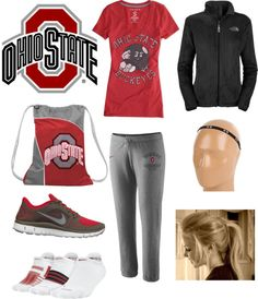 """Ohio state buckeyes Go bucks!!"" by emilygirl9 ❤ liked on Polyvore"