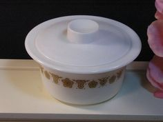 CorningWare Pyrex Corelle Gold Butterfly Round by havetohaveit, $24.99