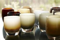 Glassbaby-Beautiful, sturdy, hand-blown glass vessels that can be used as votive candle holders, glasses, vases, ice cream bowls…anything you want.