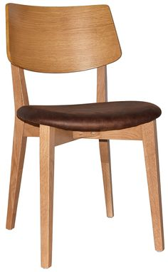 The Pheonix chair and stool are modern in design and packed with comfort. Made from American Oak solidwood and veneer, this product features clear staining that protects and accentuates the natural grain of the American Oak. Commercial Furniture, Solid Wood, Dining Chairs, Stool, Indoor, Phoenix, Modern, Range, American