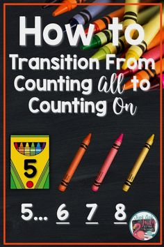 Discover math ideas and freebies in this post about helping your kindergarten, first, and second grade students move from counting all to counting on or counting up when adding! #additionfacts #additionfactstrategies #additionactivities #kindergartenmath #1stgrademath #2ndgrademath Addition Activities, Math Addition, Math Activities, Math Games, Maths Puzzles, Math Worksheets, First Grade Writing, 1st Grade Math, Second Grade