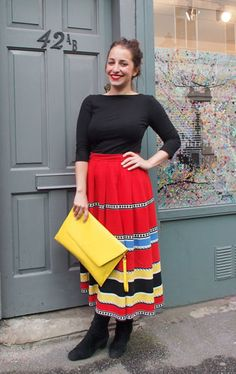 What We're Wearing: H Top, ASOS Bag And A Vintage Skirt...