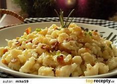 Celery Gnocchi with Bacon Recipe - TopRecepty.cz - Celery gnocchi with bacon recipe – TopRecepty. Czech Recipes, Russian Recipes, Ethnic Recipes, Bacon Recipes, Vegetarian Recipes, Good Food, Yummy Food, Food 52, Gnocchi