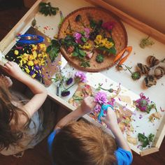 Love this sensory play from two-day.com ≈≈