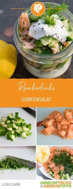Räucherlachs Gurkensalat – Knackig & Low